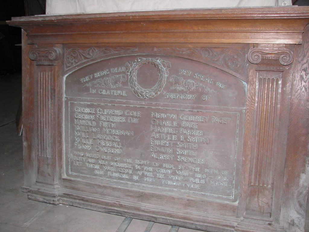 Albert Street Baptist Church war memorial