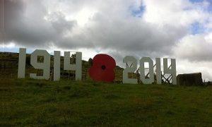 Date boards commemorating the start of the Great War Centenary, created by Councillor Russell Brown