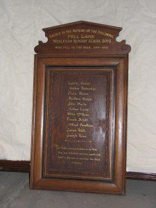 Fell Lane Wesleyan Sunday School Boys War Memorial