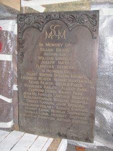 Marlborough Street Congregational Mission Great War memorial board