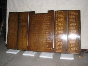 Sun Street Methodist Church - Great War memorial panels