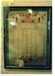 St James Church - Great War roll of honour