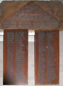 Worth Methodist Chapel War Memorial boards