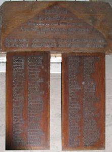 Worth Methodist Chapel War Memorial boards