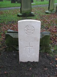 New CWGC headstone on Ivor's grave