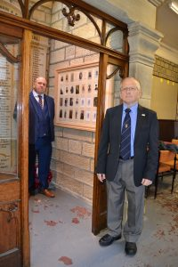 Tito Arana and Ian Walkden who unveiled the new memorial at Cross Roads