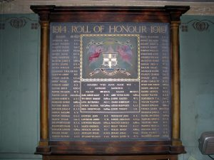 Haworth Oddfellows Roll of Honour