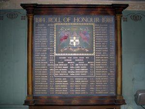 Haworth Oddfellows Roll of Honour