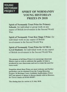 Young Historian 2018 Normandy