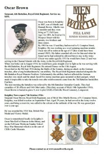 Biography sheet for Oscar Brown