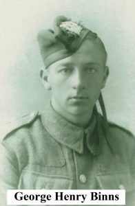 Private George Henry Binns, killed in action 4th October 1917