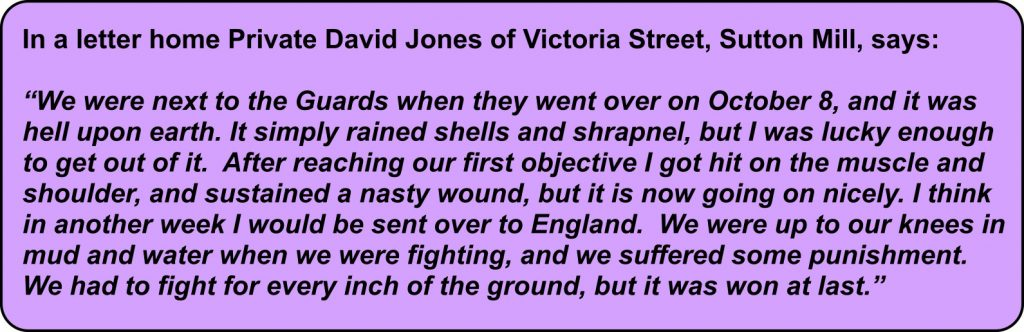 Harrowing letter home from Private David Jones