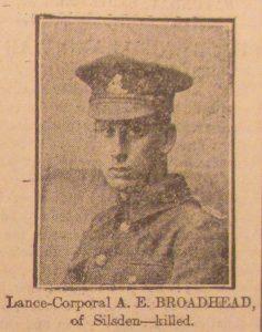 Lance Corporal A. E.Broadhead