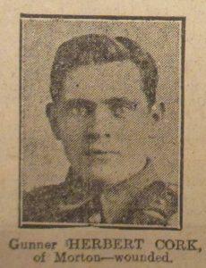 Gunner Herbert Cork
