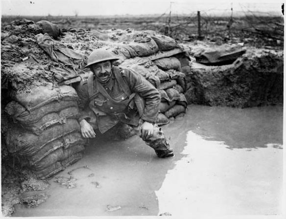 Image by John Warwick Brooke, showing a flooded trench.