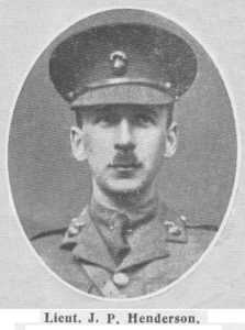 Second Lieutenant James Percy Henderson