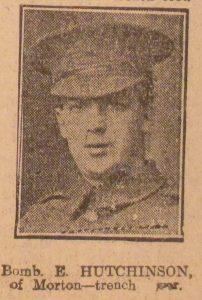 Bombardier Ernest Hutchinson