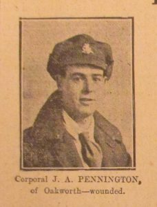 Corporal James Arthur Pennington