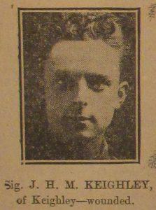 Signaller J. H. M. Keighley