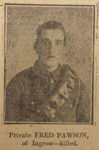 Private Fred Pawson