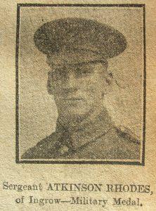 Sergeant Atkinson Rhodes, D.C.M.