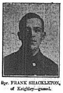 Sapper Frank Shackleton