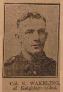 Corporal E. Wakeling