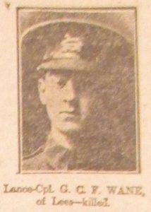 Lance Corporal George Charles Frederick Wane