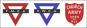 YMCA YWCA Church Army badges