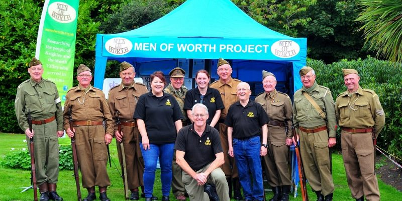 Haworth Home Guard unit visit our stand!