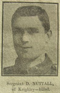 Acting Sergeant David Nuttall - Keighley news photograph from November 1916.