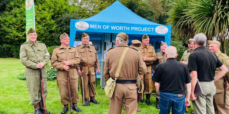 Some of Haworth Home Guard having a chat with us.